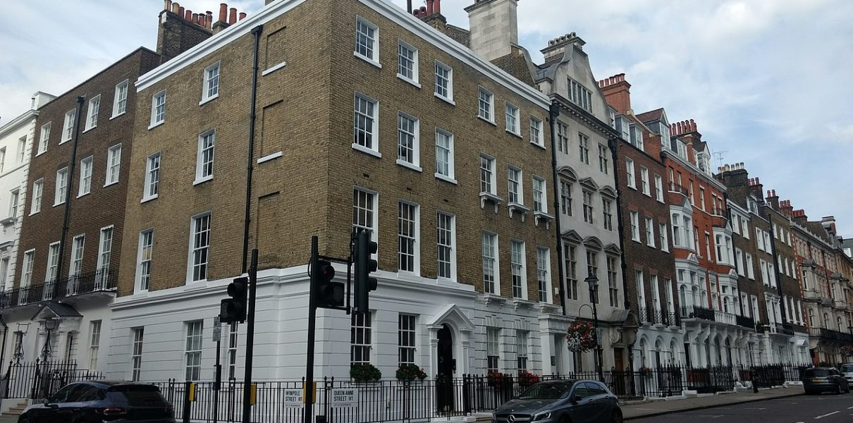 Corner of Wimpole Street and Queen Anne Street